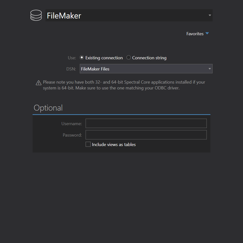 FileMaker  connection