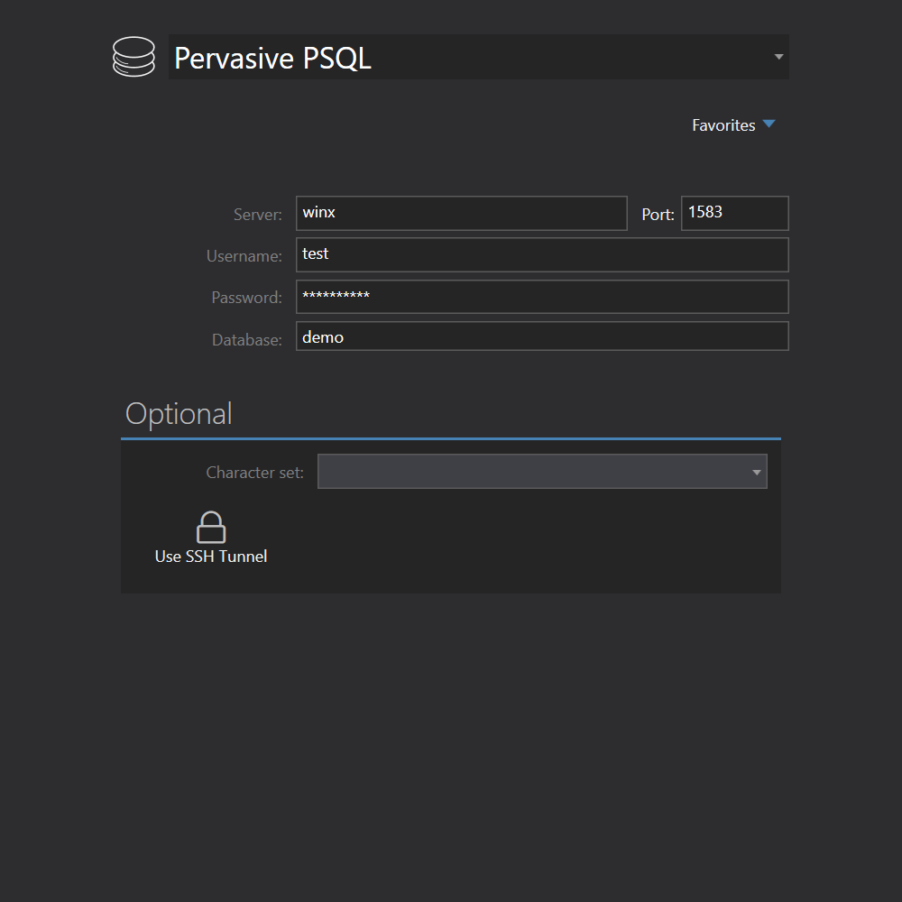 Pervasive PSQL connection