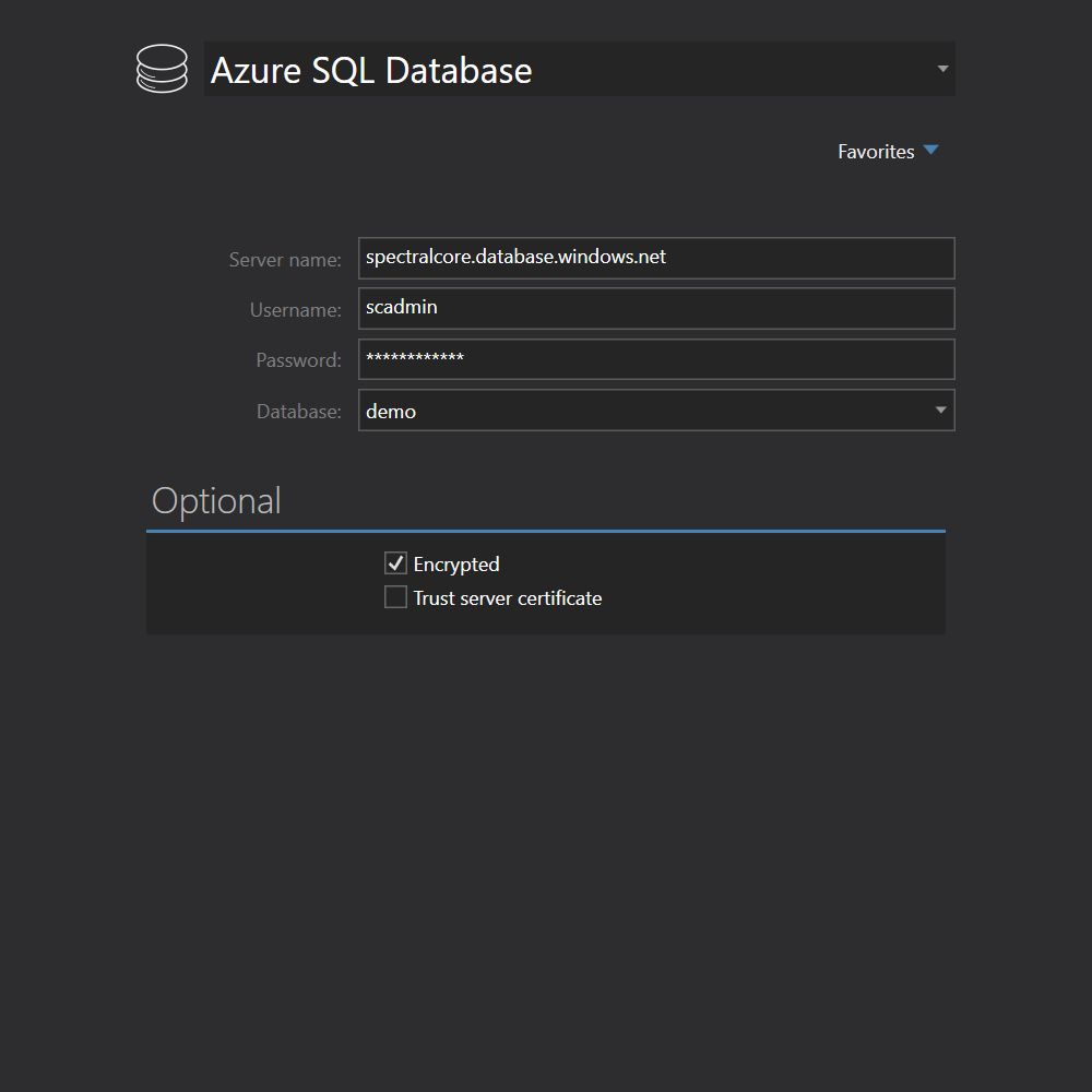 SQL Azure connection