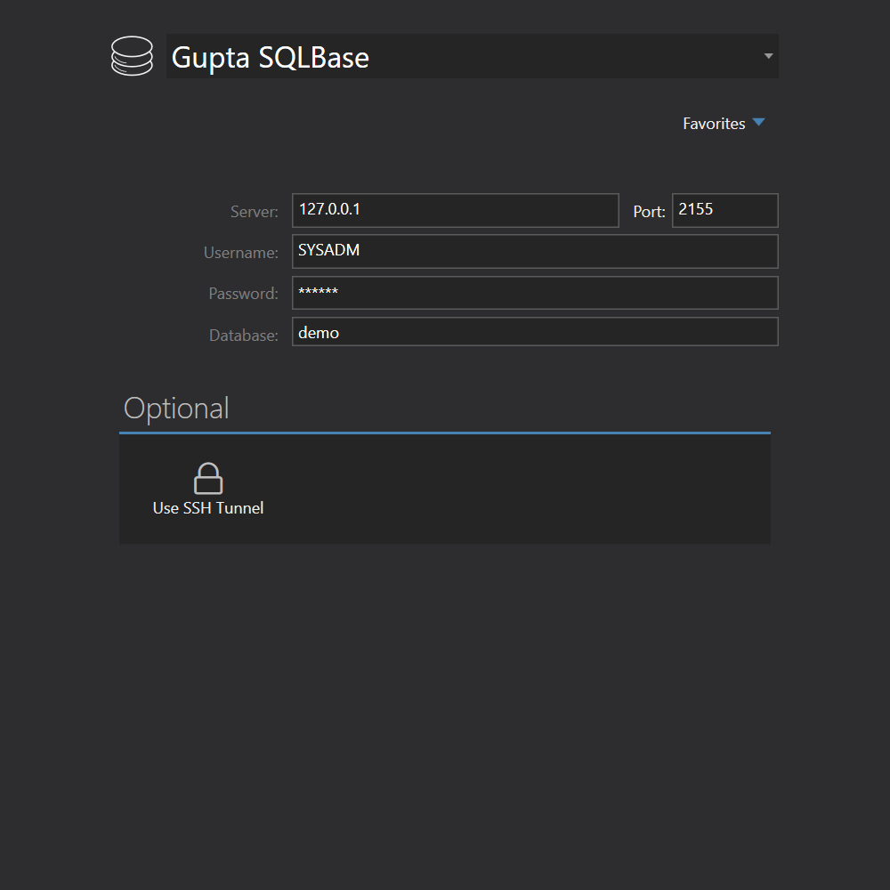 Gupta SQLBase connection